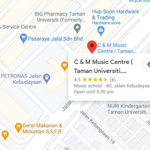 C&M Music - Taman Universiti Music School
